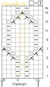 схема вязания ажурного узора монисто