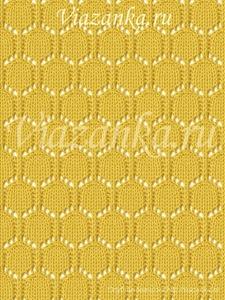 образец вязания ажурного узора монисто