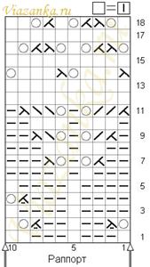 схема вязания ажурного узора крокусы