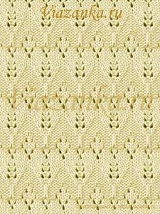 образец вязания ажурного узора крокусы
