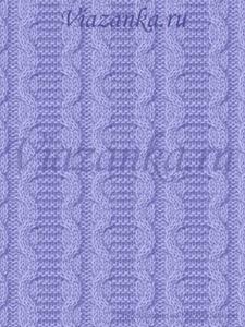 образец вязания узора жгуты-змейки