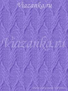 образец вязания узора из плоских жгутов