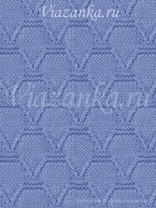образец вязания узора амфоры