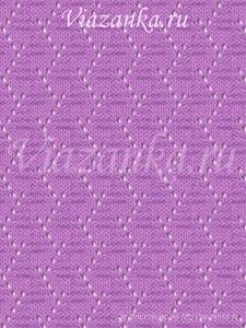 образец вязания ажурного узора акация