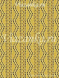 образец вязания ажурного узора Ленточное кружево