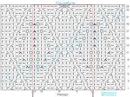 схема вязания фантазийного узора Терновник