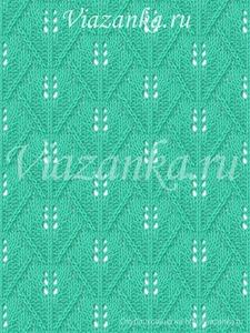 образец вязания фантазийного узора Крона