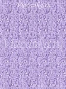 образец вязания фантазийного узора Прибой