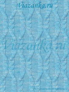 """образец вязания узора """"Ломаные жгуты"""""""
