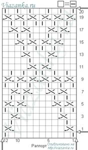 "схема вязания узора ""Салют"""