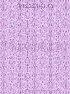 """образец вязания узора """"Жгуты в цепях"""""""