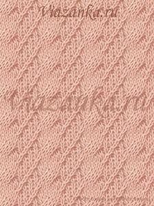 """образец вязания узора """"Хитрые жгуты"""""""