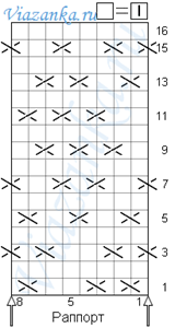 "схема вязания узора ""Плетение"""