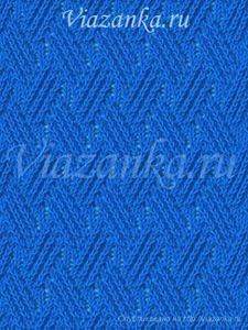 """образец вязания узора """"Плетение"""""""