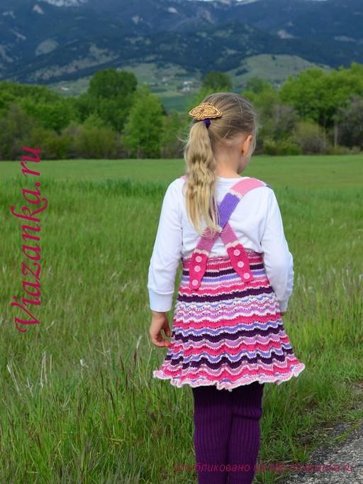 юбка-сарафан спицами