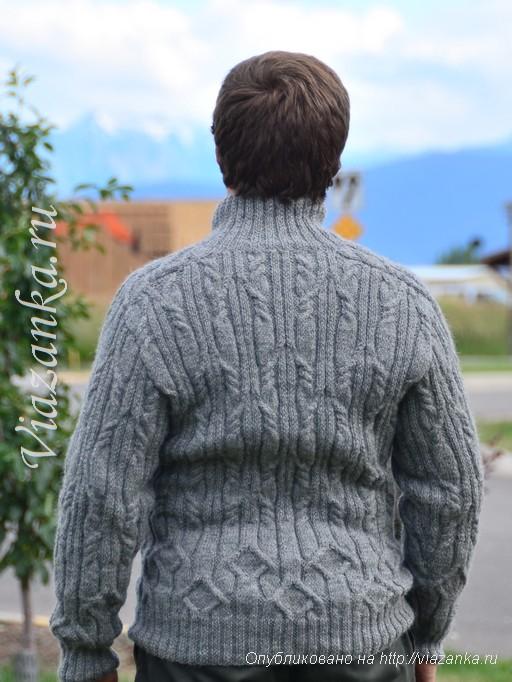 вид сзади мужского свитера
