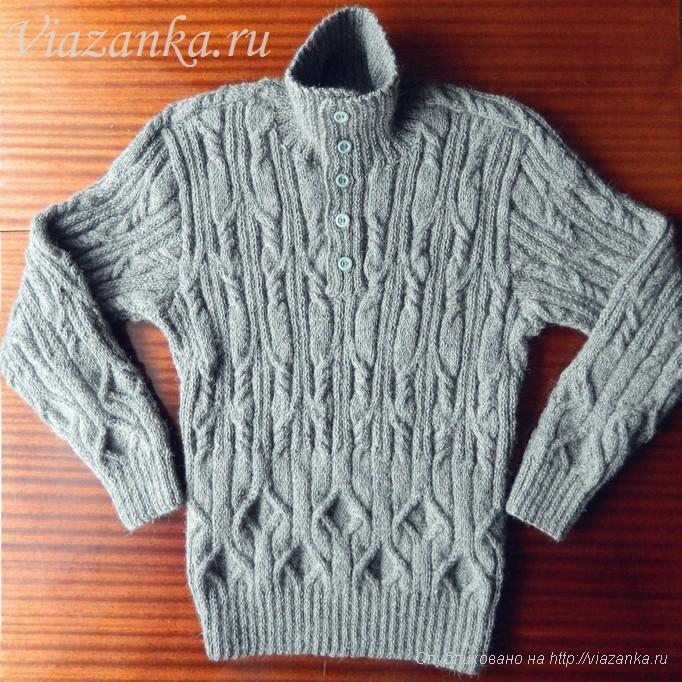 планка и воротник мужского свитера