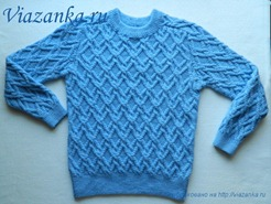 свитер для мальчика с рукавом реглан-погон_перед
