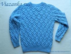 свитер для мальчика с рукавом реглан-погон_спинка