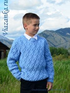 свитер ирландским узором для мальчика