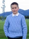 миниатюра свитера для мальчика 9-11 лет