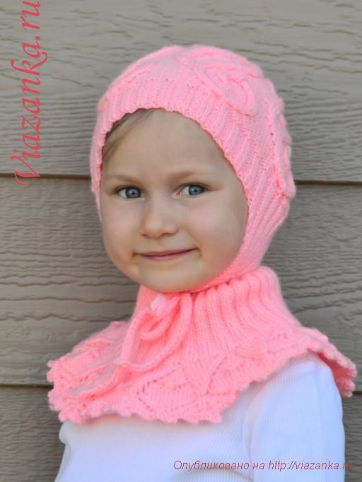 красивая шапочка для девочки 4-6 лет