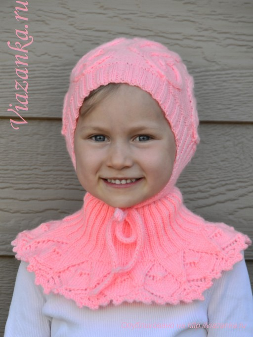 шапочка и манишка для девочки