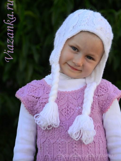 "шапочка ""Принцесса Эльза"" для девочки 4"