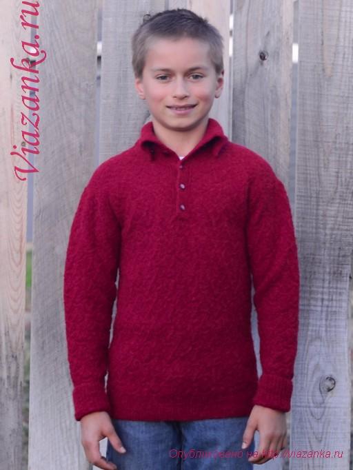 свитер с воротником 1