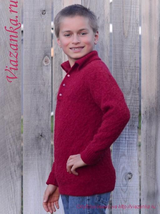свитер с воротником 2