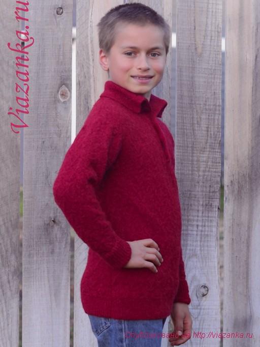 свитер с воротником 3