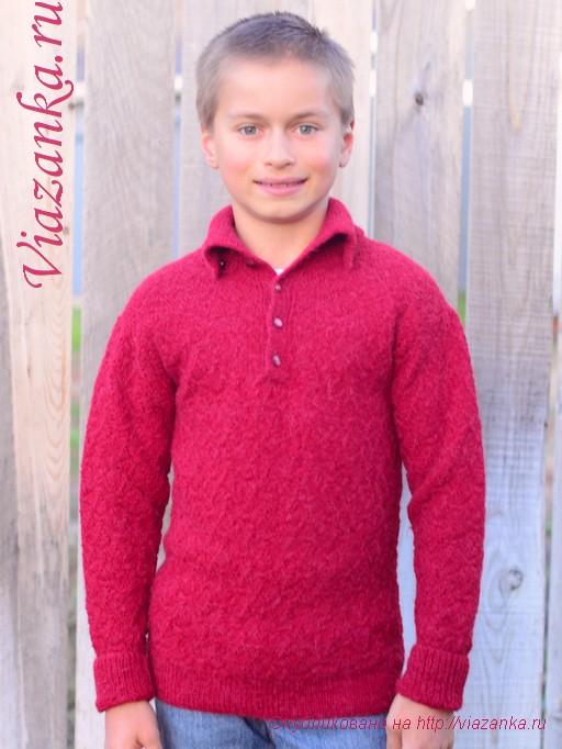 свитер с воротником 4