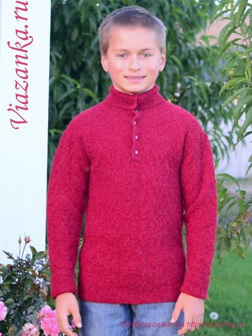 свитер с воротником 5