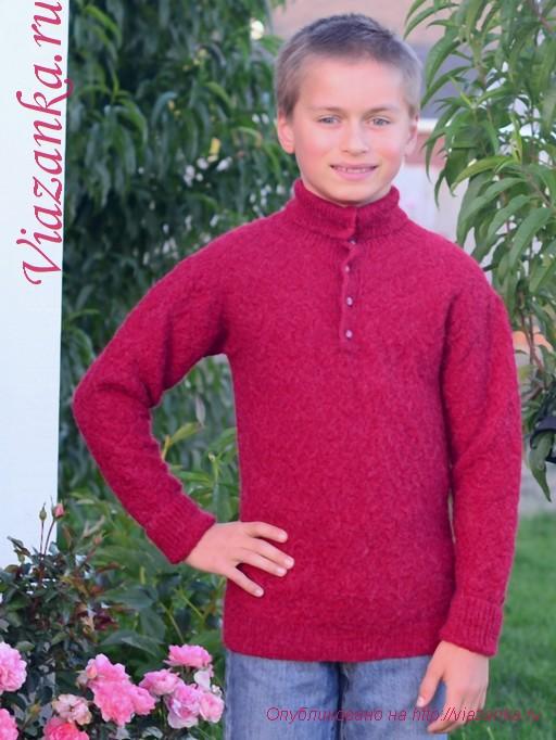 свитер с воротником 6