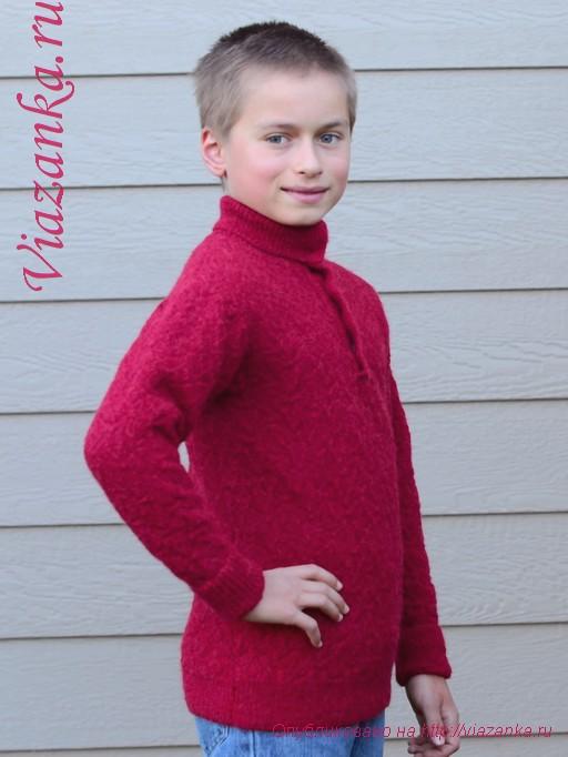 свитер с воротником 7