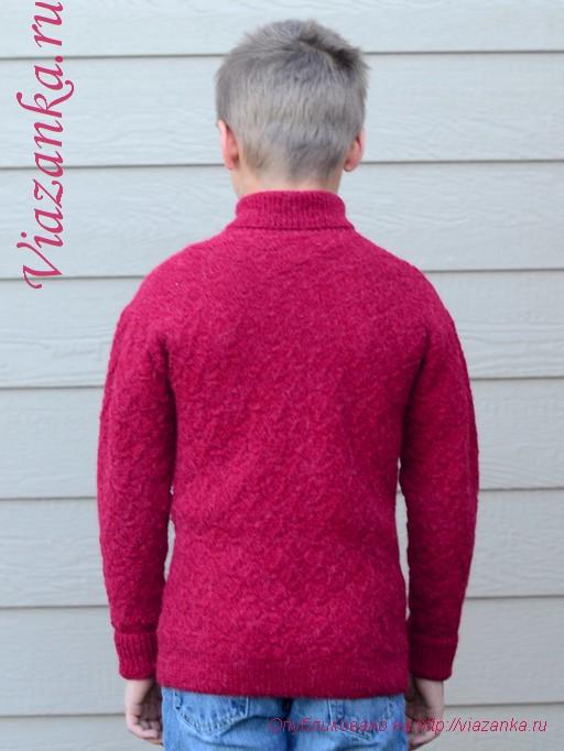 свитер с воротником 8