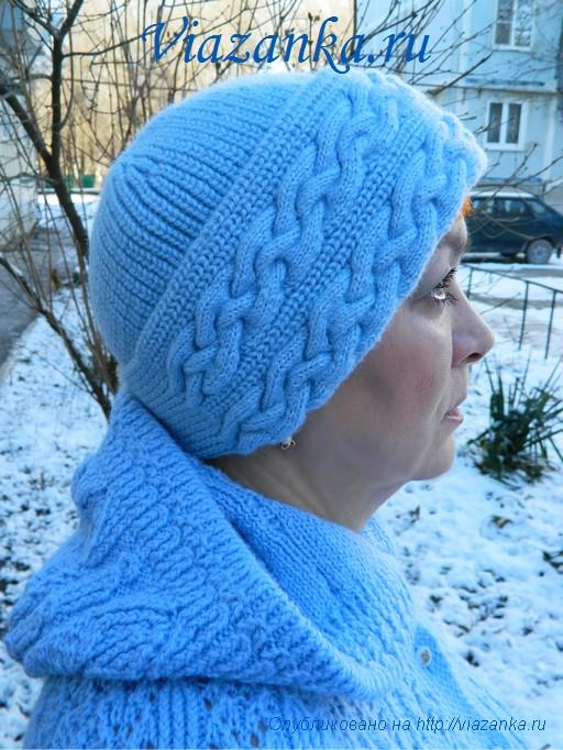 шапка плетёнка 2