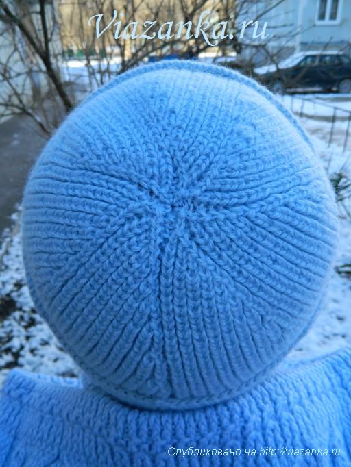 шапка плетёнка 3