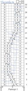 """узор """"Тропики"""" схема вязания 1"""