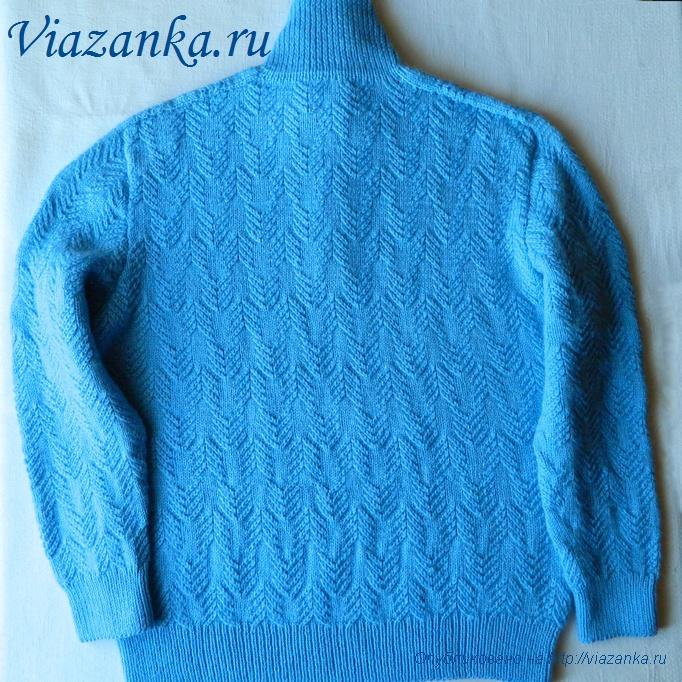 мужской свитер спицами 2