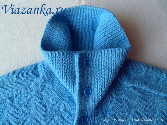 мужской свитер спицами 3