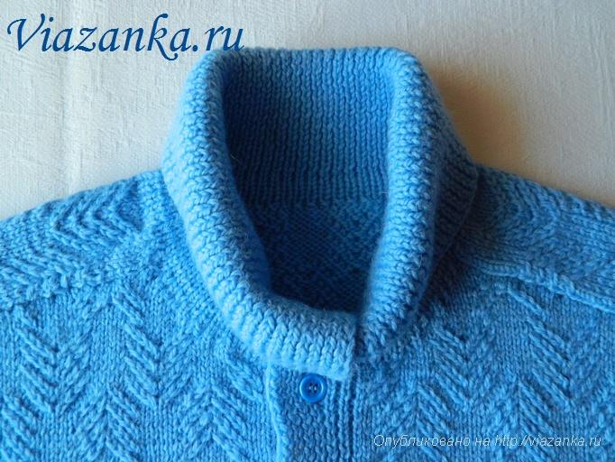 мужской свитер спицами 4