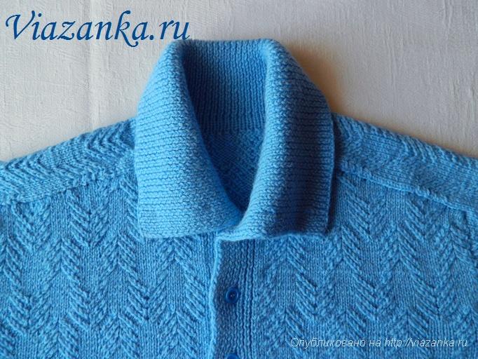 мужской свитер спицами 5