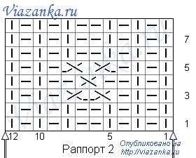 """Схема вязания 2 узора """"Скандинавский"""""""