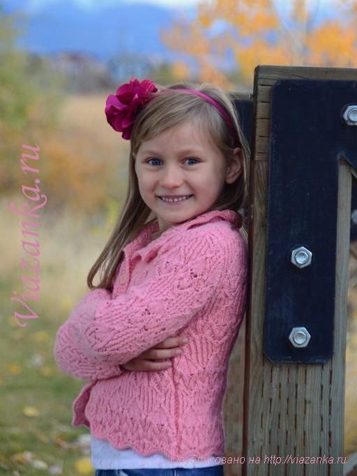 кофточка для девочки 7 лет