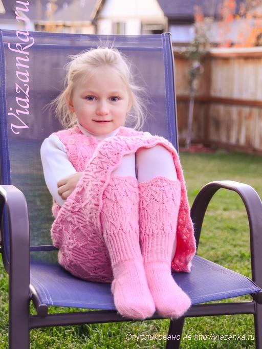 Ажурные носочки для девочки