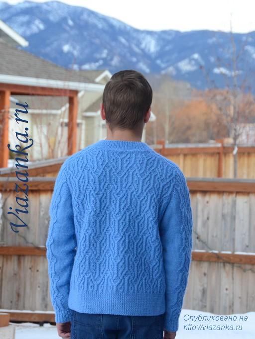 вид сзади свитера для подростка