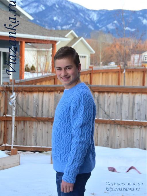 вид сбоку свитера для подростка