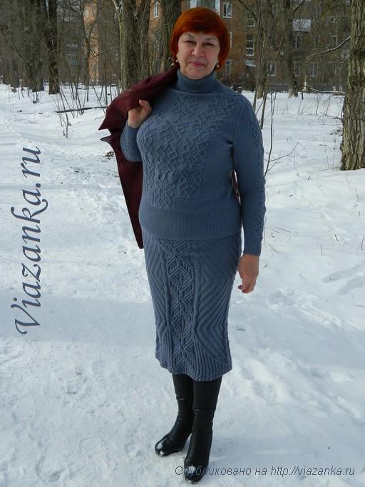 юбка спицами для женщин_1