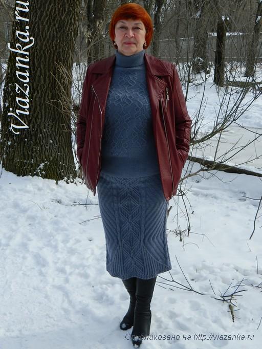 юбка спицами для женщин_3